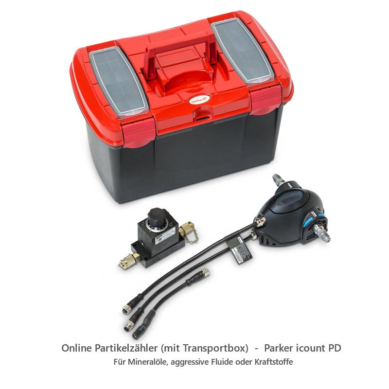 Online Partikelzähler (mit Transportbox) - Parker icount PD